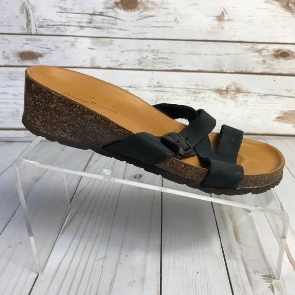 26e6c51709 Cristina Francini Shoes | Strappy Wedge Sandals Sz 75m | Poshmark